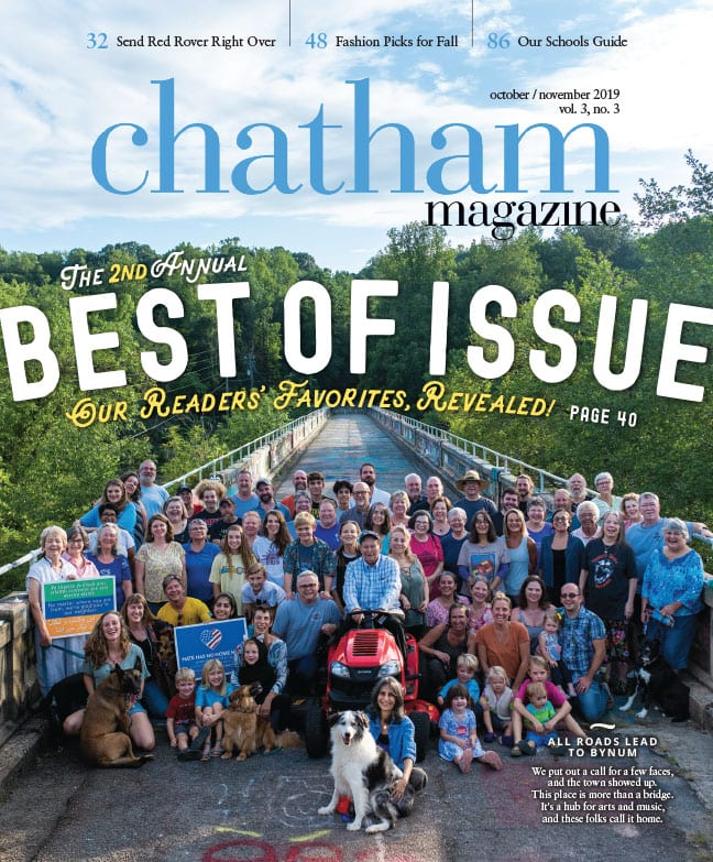 Front cover of Chatham Magazine October/November 2019 issue