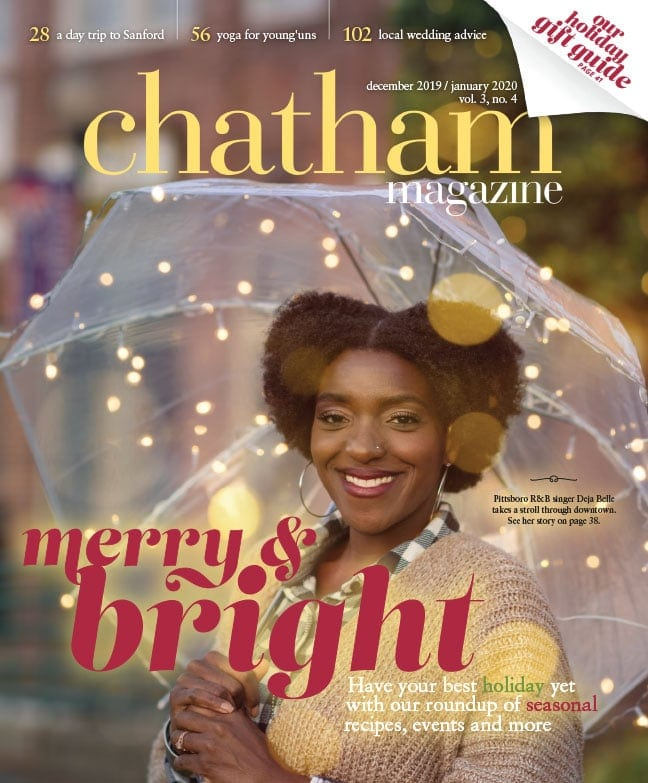 The front cover of Chatham Magazine's December/January 2020 issue