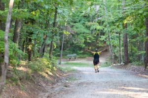 Person Running Outdoor Summer Activity Checklist Chatham County